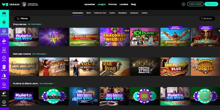 juegos de slot online en Versus