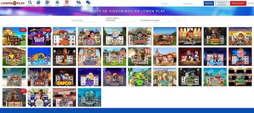 Slots de videobingo en Lowen Play