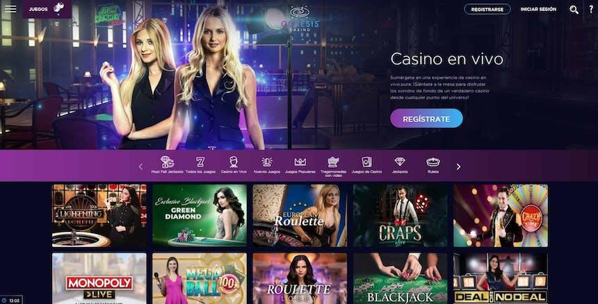 Disfruta del casino en vivo y juega a tu juego favorito en Casino Genesis Perú