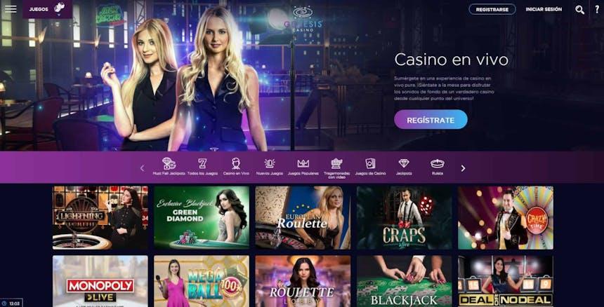 Disfruta del casino en vivo y juega a tu juego favorito en Genesis Casino Chile