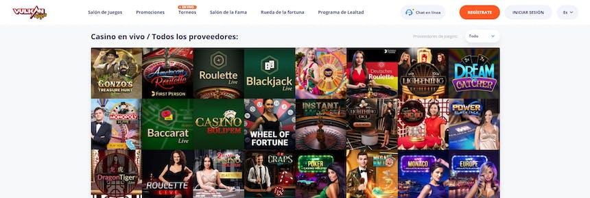 Disfruta del casino en vivo y juega a tu juego favorito en Vulkan Vegas Argentina