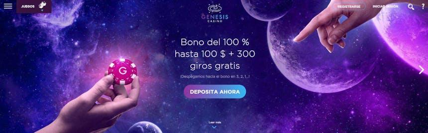 bono e promozione del Genesis Casino Perú