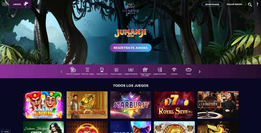 juegos de slot online en Genesis Casino Perú