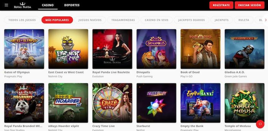 juegos de slot online en Royal Panda