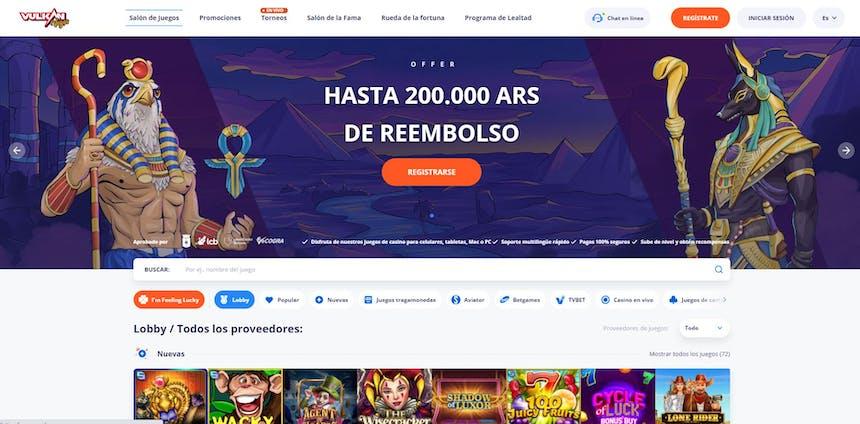 juegos de slot online en Vulkan Vegas Argentina