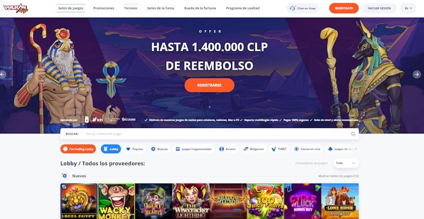 juegos de slot online en Vulkanvegas Chile