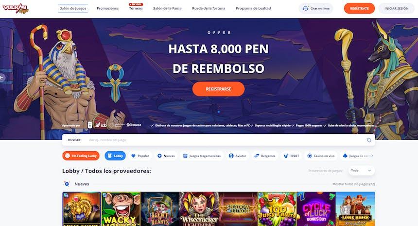 juegos de slot online en Vulkanvegas