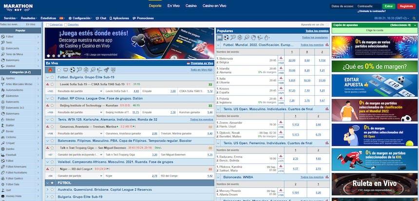 Disfruta en Marathonbet de las mejores apuestas deportivas online