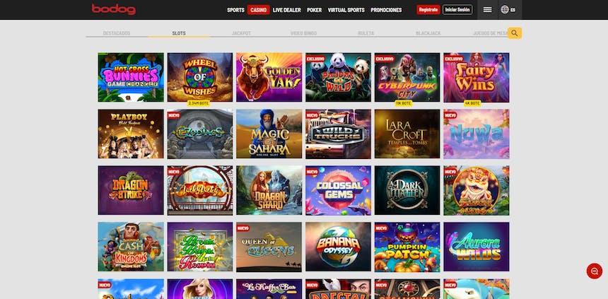 juegos de slot online en Bodog Chile
