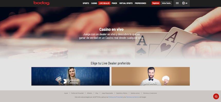 Disfruta del casino en vivo y juega a tu juego favorito en Bodog Chile