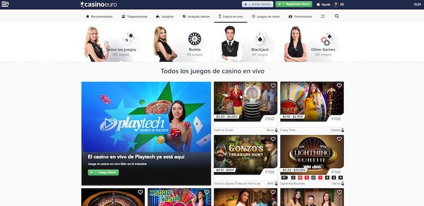 Disfruta del casino en vivo y juega a tu juego favorito en CasinoEuro