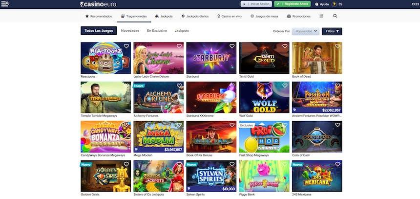 juegos de slot online en CasinoEuro