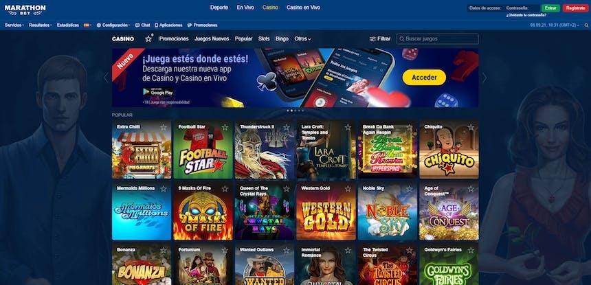 juegos de slot online en Marathonbet