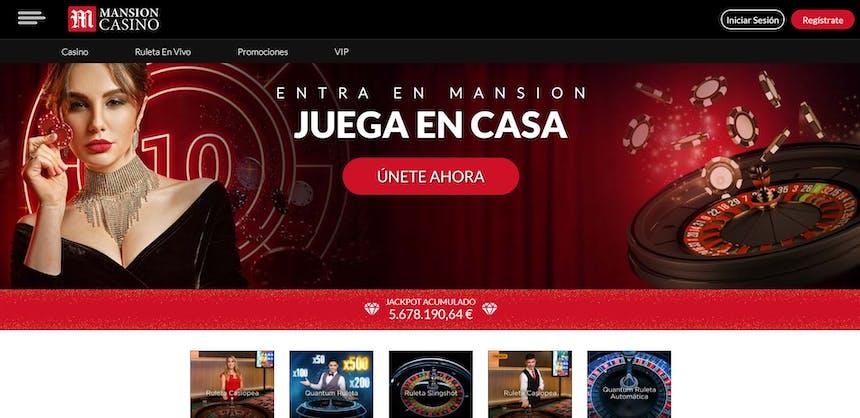 Disfruta del casino en vivo y juega a tu juego favorito en Mansion Casino